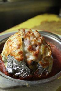 Patata con pancetta