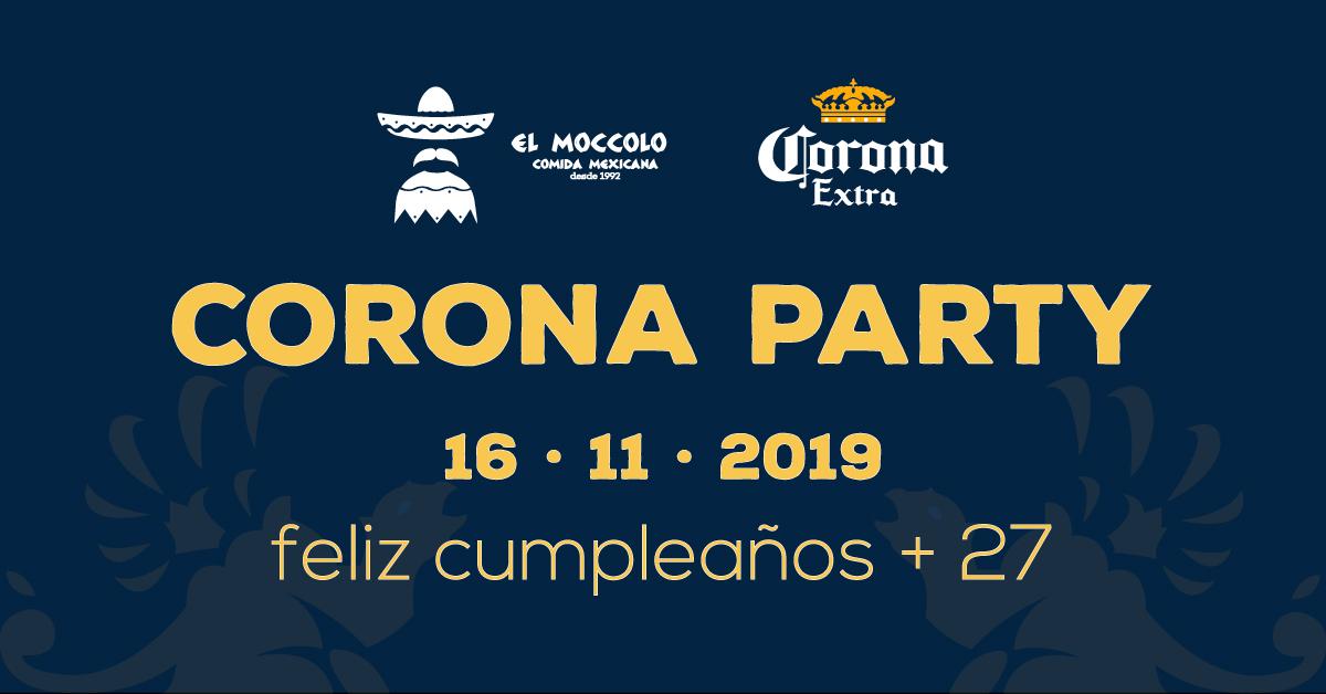 Corona Party per il 27° compleanno del #elmoccolo